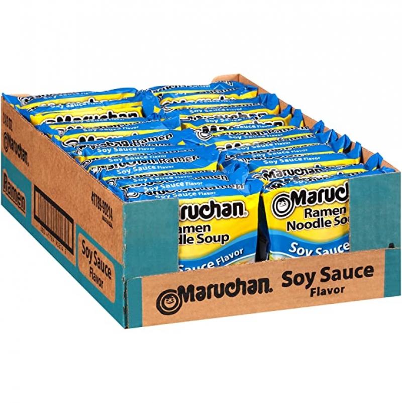 ihocon: Maruchan Flavor Ramen Noodles, Soy Sauce, 3 Ounce (Pack of 24) 拉麵(醬油口味)