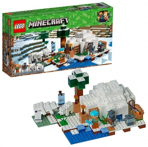 ihocon: LEGO Minecraft The Polar Igloo 21142 Building Kit (278 Piece)