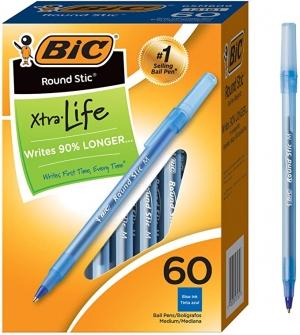 BIC 藍色原子筆 60支$5 (原價$12.49)