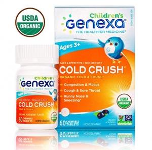 Genexa Cold Crush 有機兒童感冒藥(Homeopathic順勢療法) 60粒 $15.09(原價$17.99)