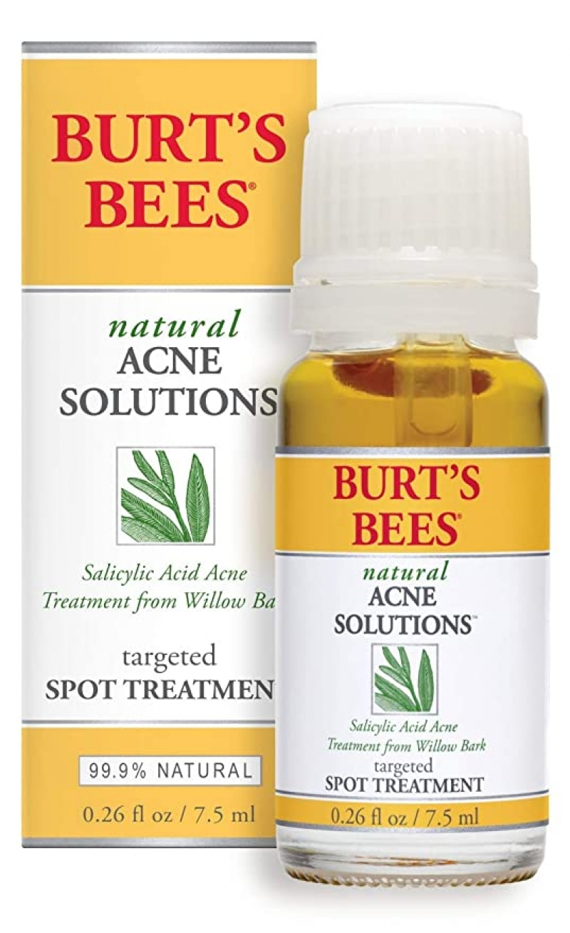 ihocon: Burt's Bees Natural Acne Solutions Targeted and Minimizing Spot Treatment for Oily Skin, 0.26 Oz 天然青春痘治療