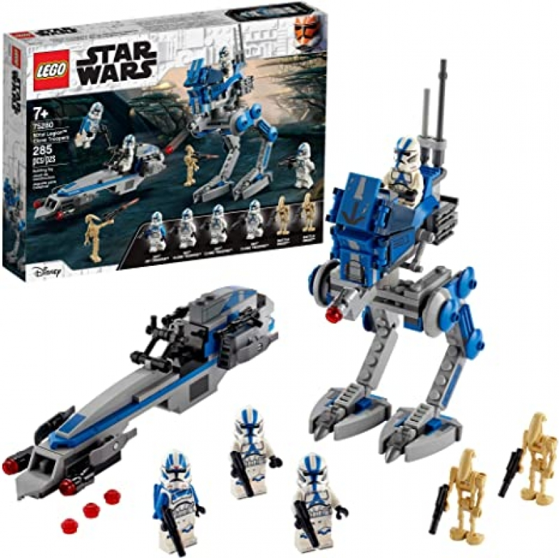 ihocon: LEGO Star Wars 501st Legion Clone Troopers 75280 Building Kit, New 2020 (285 Pieces)