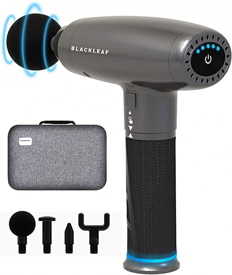 ihocon: BlackLeaf Handheld Electric Muscle Massager Gun for Therapy and Relaxation深層按磨槍