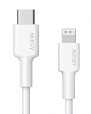 ihocon: Aukey 3-Foot Apple MFi Certified USB-C to Lightning Cable 充電線