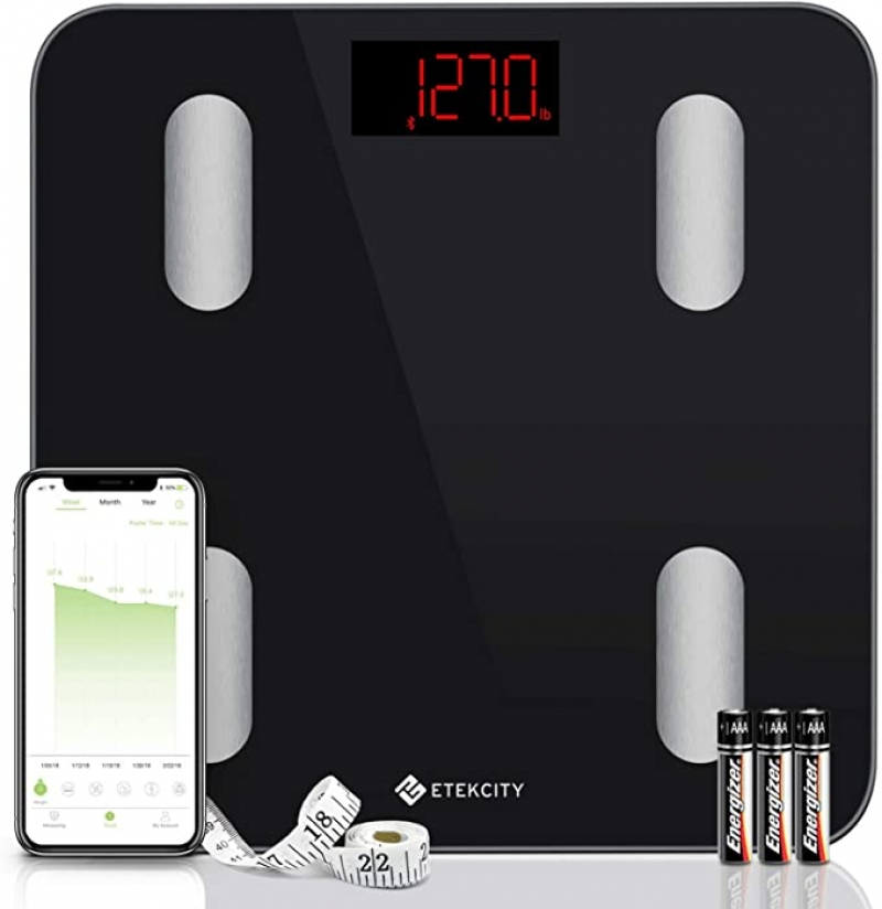 ihocon: Etekcity Smart Bluetooth Digital Bathroom Weight Body Fat Scale with Smartphone APP智能體脂體重秤