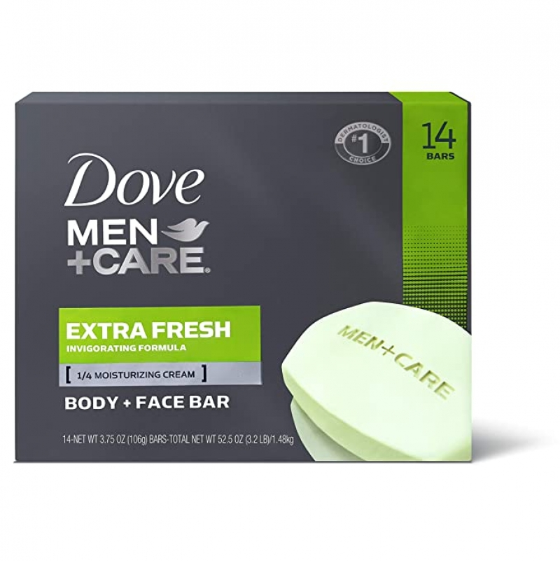 ihocon: Dove Men+Care 3 in 1 Bar for Body, Face, and Shaving (14 Count of 3.75 oz Bars)三合一香皂