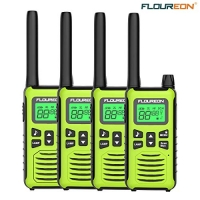 ihocon: floureon Professional Rechargeable Walkie Talkies for Adults Set of 4 可充電對講機