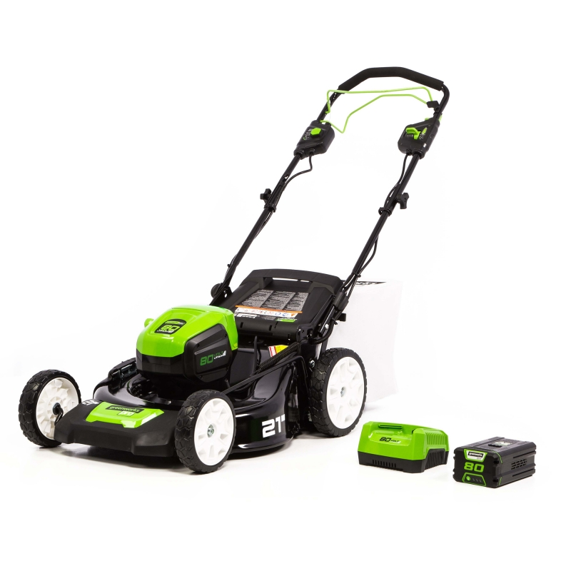 ihocon: Greenworks Pro 80V 21-Inch Self-Propelled Cordless Lawn Mower, 5Ah Battery and Charger Included 電動無線自走式割草機