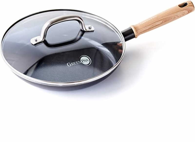 ihocon: GreenPan Hudson Healthy Ceramic Nonstick, 11 Fry Pan 含蓋陶瓷不沾鍋