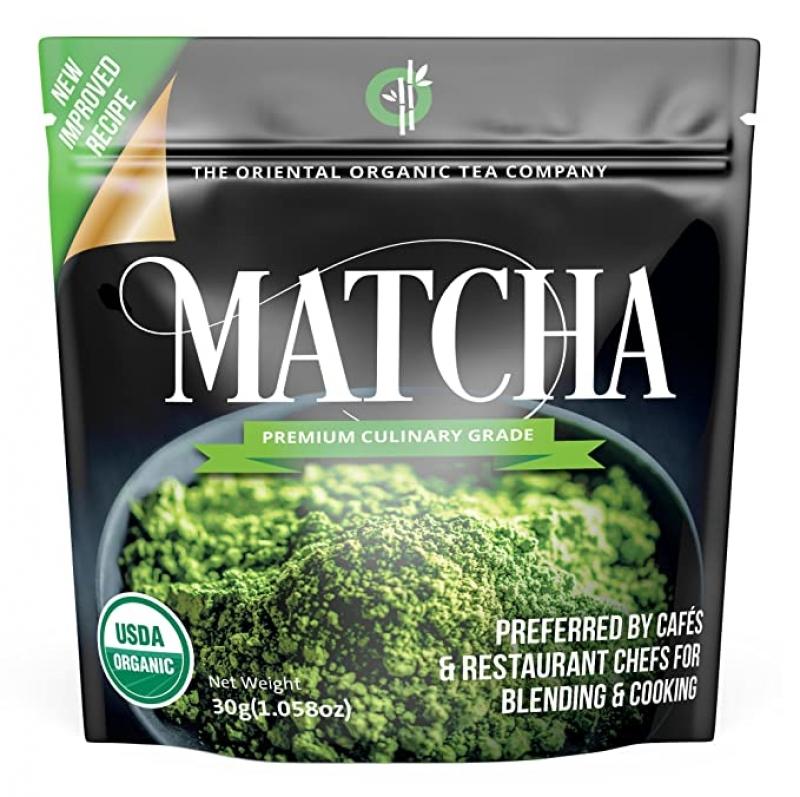 ihocon: The Oriental Organic Matcha Green Tea Powder Organic- USDA & Vegan Certified-30g (1.06 oz)有機抹茶粉