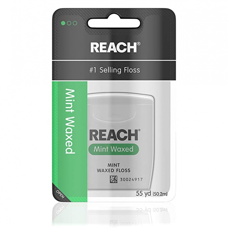 ihocon: Reach Waxed Dental Floss, Mint, 55 Yards 牙線