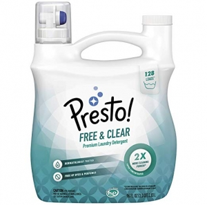 ihocon: [Amazon自家品牌]Presto! Concentrated Liquid Laundry Detergent, 128 Loads, 96 Fl Oz 濃縮洗衣精