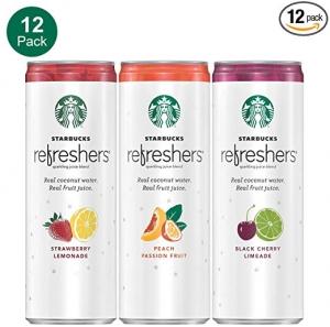 Starbucks Refreshers 氣泡果汁 12罐 $10.79免運(原價$17.98)