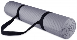 ihocon: BalanceFrom 1/4-inch Thick All Purpose High Density Non-Slip Yoga Mat with Carrying Strap 瑜伽墊, 含背帶