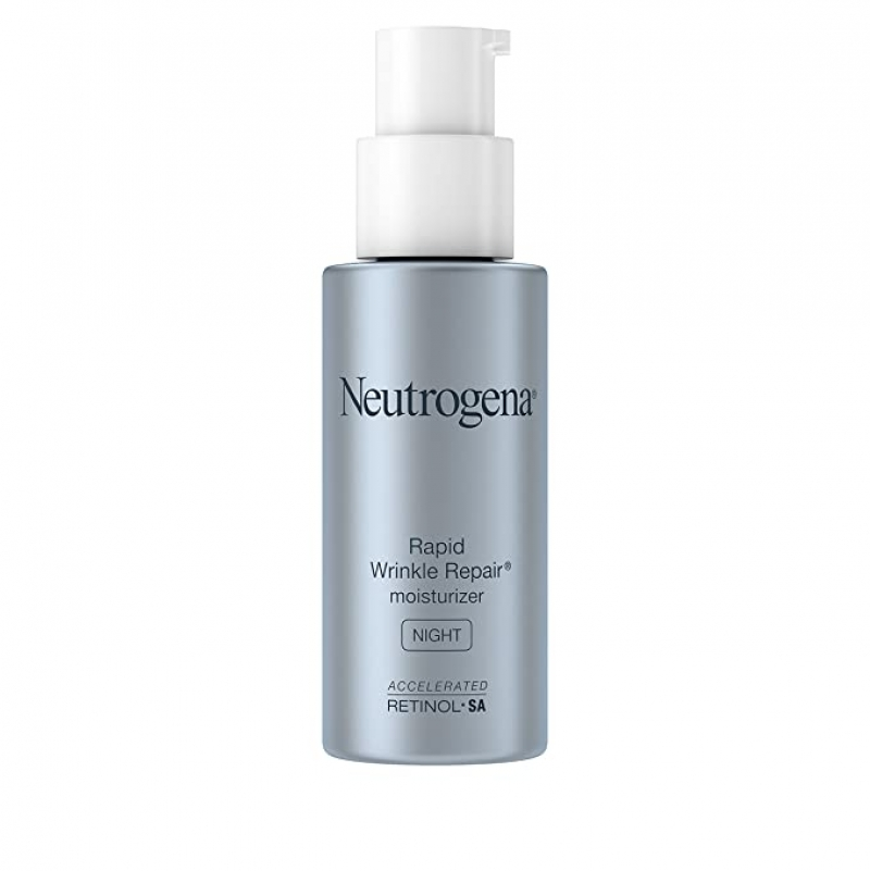 ihocon: Neutrogena露得清Rapid Wrinkle Repair Retinol Anti-Wrinkle Night Cream, 1 fl. oz快速除皺修晚霜