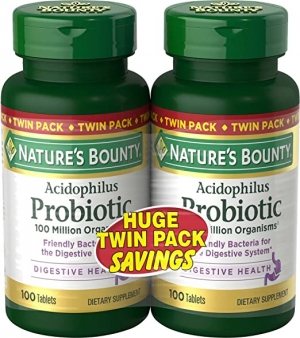 ihocon: Nature's Bounty Probiotics Dietary Supplement, 100 Count (Pack of 2)益生菌