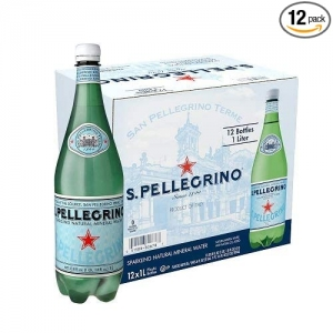 ihocon: S.Pellegrino Sparkling Natural Mineral Water, 33.8 fl oz. (12 Pack) 氣泡礦泉水