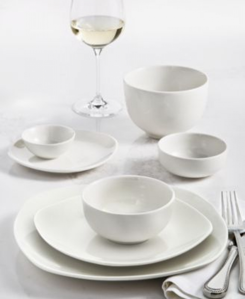 ihocon: Tabletops Unlimited Whiteware 42-PC. Dinnerware Set, Service for 6 餐盤組-3款可選