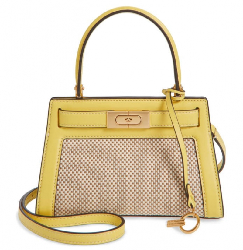 ihocon: TORY BURCH Small Lee Radziwill Canvas & Leather Bag 包包