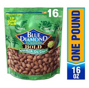 ihocon: Blue Diamond Almonds, Bold Wasabi & Soy Sauce, 16 Ounce