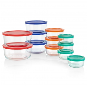 ihocon: Pyrex 24-piece Simply Store Round Glass Food Storage Set 玻璃保鮮盒