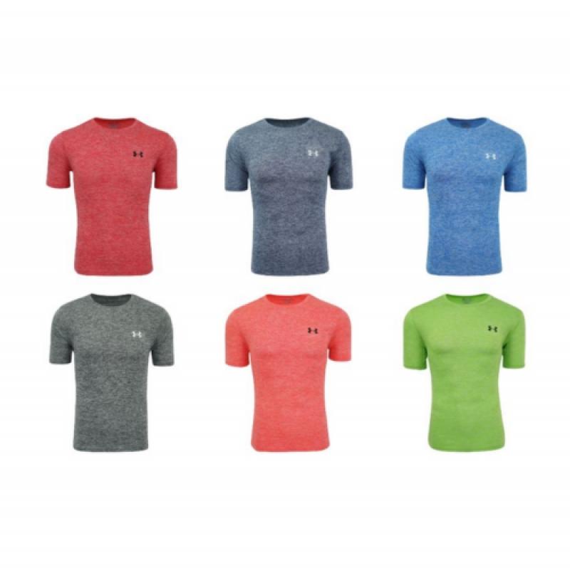 ihocon: Under Armour Men's Logo Tee Top Athletic Muscle Gym Shirt 男士短袖衫-多色可選