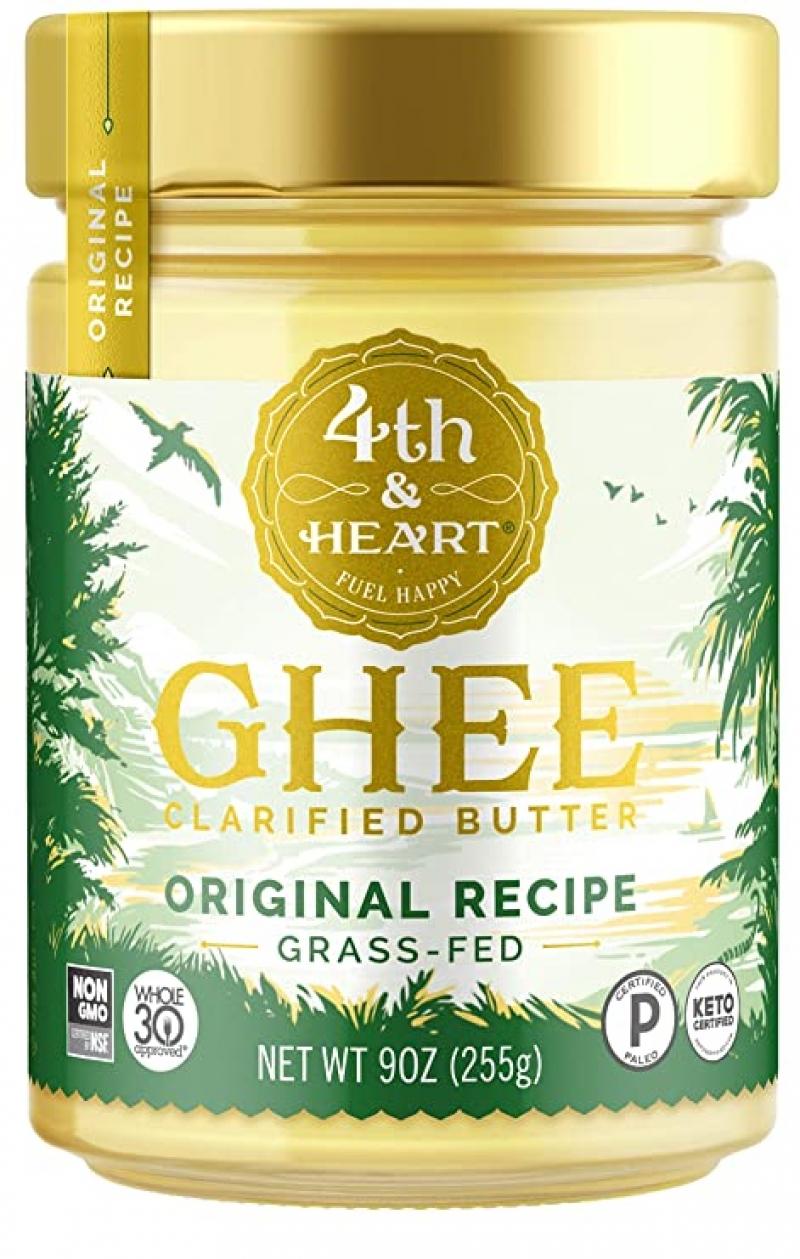 ihocon: 4th & Heart Original Grass-Fed Ghee Butter, 9 Ounce 酥油(來自草飼牛)