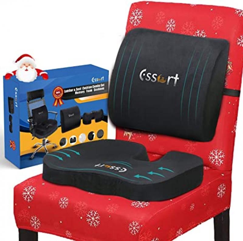 ihocon: ESSORT Memory Foam Back and Seat Cushions Combo 記憶棉座墊及靠背
