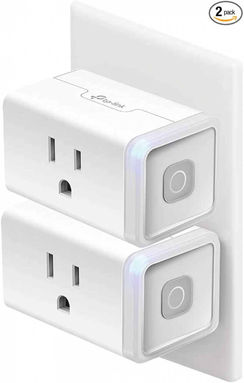 ihocon: [不在家也能遙控家電] Kasa Smart HS103P2 Plug, Wi-Fi Outlet works with Alexa, Echo and Google Home, 2-Pack 智能插座
