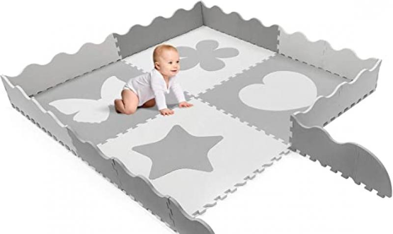 ihocon: Sorbus Baby Play Mat Tiles - 61 x 61 Extra Large, Non Toxic 無毒兒童地墊