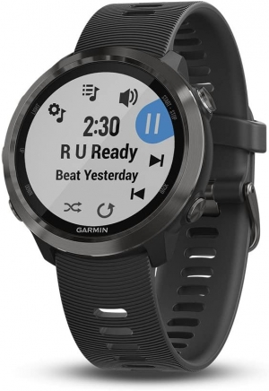 ihocon: Garmin Forerunner 645 Music, Gps Running Watch with Contactless Payments, Wrist-based Heart Rate and Music, Slate 智能音樂心率監測跑步錶