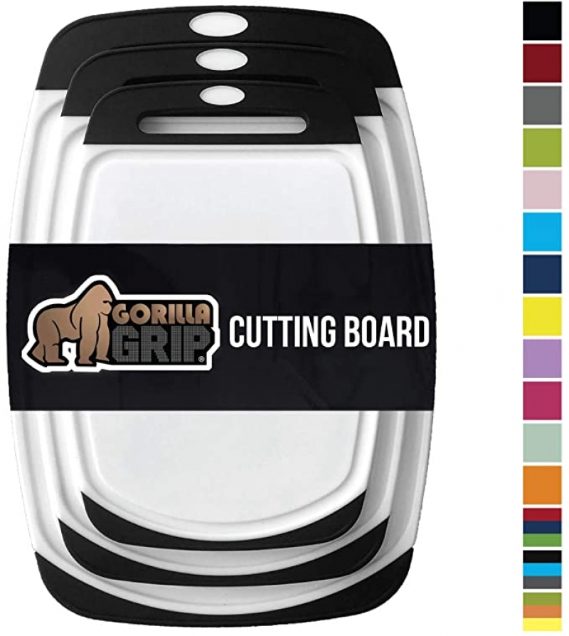 ihocon: Gorilla Grip Original Oversized Cutting Board, 3 Piece, BPA Free, Dishwasher Safe, 菜板3個
