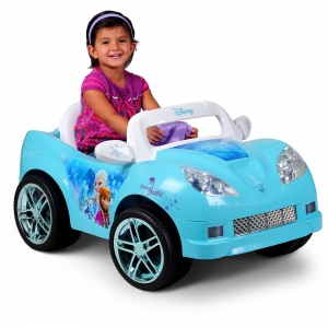 ihocon: Disney Frozen Convertible Car 6-Volt Battery-Powered Ride-On 迪士尼冰雪奇緣兒童電動敞篷車