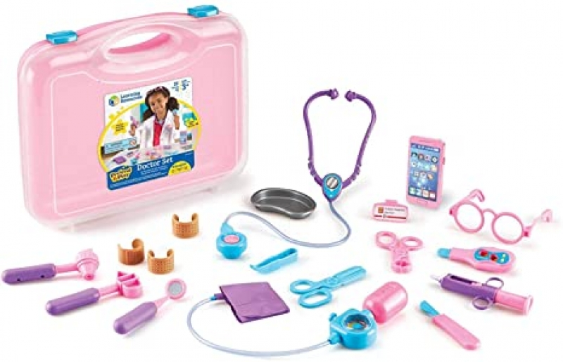 ihocon: Learning Resources Pretend and Play Doctor Kit 兒童扮家家酒玩具-醫生工具包