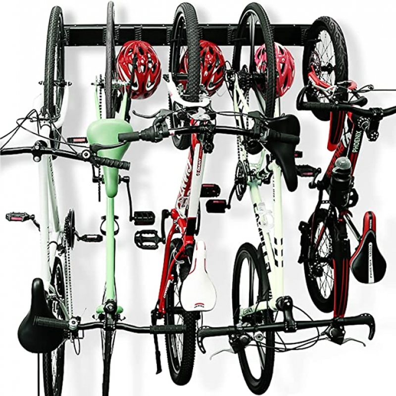 ihocon: Wallmaster 5 Bicycles Hooks Wall Mount Bike Hanger 壁掛式自行車架(可掛5台自行車)