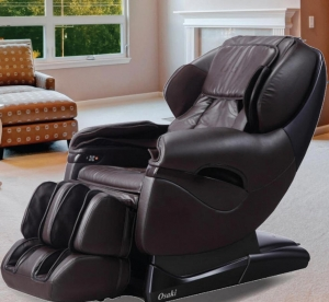ihocon: TITAN Pro Series Faux Leather Reclining Massage Chair (Brown)