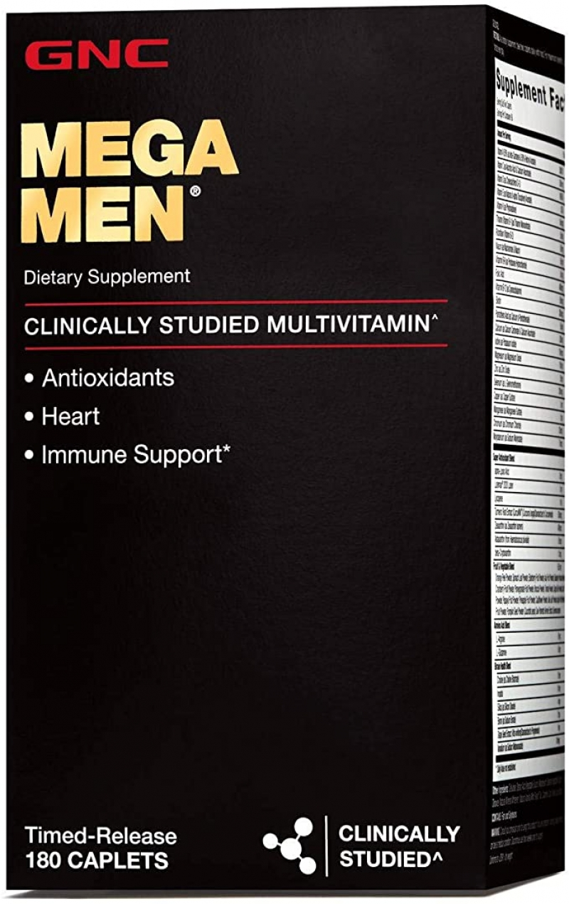 ihocon: GNC Mega Men Multivitamin for Men, 180 Count 男士綜合維他命