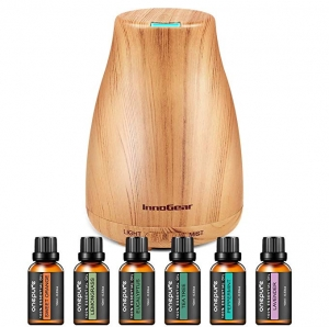 ihocon: InnoGear Upgraded 150ml Aromatherapy Diffuser with 6 Bottles 100% Pure Essential Oils精油擴香機及6瓶精油