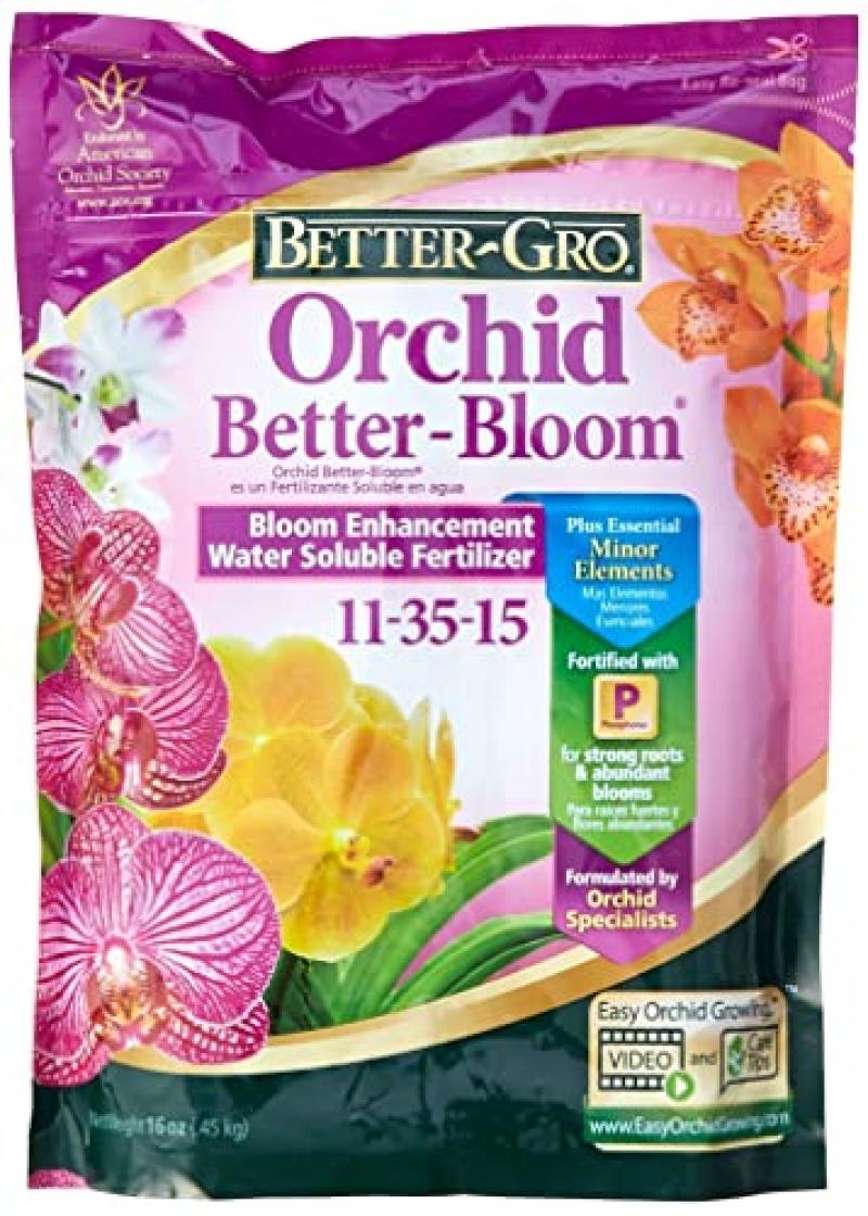 ihocon: Sun Bulb Company 8305 Better Gro Orchid Plus Bloom Booster Fertilizer, 16-Ounce 蘭花肥料, 11-35-15