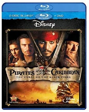Amazon多款商品買3送1, 像是Pirates of the Caribbean: The Curse of the Black Pearl [Blu-ray]藍光碟 $7.39. 若買3片每片才$4.92