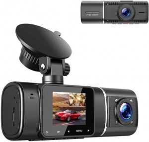 ihocon: TOGUARD Dual Dash Cam with IR Night Vision, FHD 1080P Front and 720P Inside Cabin Dash Camera 前後雙鏡頭行車記錄器