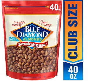 ihocon: Blue Diamond Almonds, Smokehouse, 40 Ounce (Pack of 1)杏仁