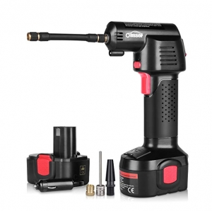 ihocon: Oasser Air Compressor Electric Inflator Portable Hand Held Pump with Digital LCD Rechargeable Li-ion 12V 無線電動打氣機