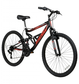 ihocon: Hyper 26吋 Shocker Men's Dual Suspension Mountain Bike, Black 男士自行車
