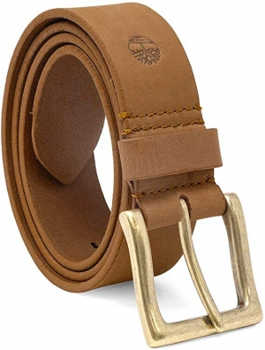ihocon: Timberland Men's 38 Mm Boot Leather Wheat Belt 男士皮帶