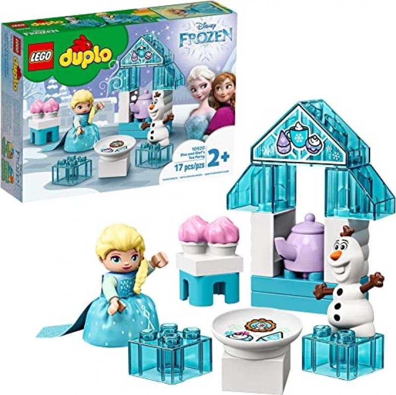 ihocon: [2020新款] LEGO DUPLO Disney Frozen Toy Featuring Elsa and Olaf's Tea Party 10920, New 2020 (17 Pieces) 樂高迪士尼冰雪奇緣