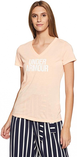 ihocon: Under Armour Women's Threadborne Train Wordmark 女士 V-Neck Twist Shirt