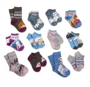 ihocon: Disney Frozen 2 Socks, 12 Pack 迪士尼冰雪奇緣2童襪