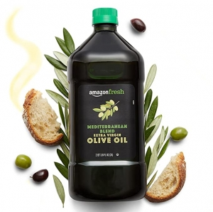 ihocon: [Amazon自家品牌] AmazonFresh Mediterranean Extra Virgin Olive Oil, 68 Fl Oz (2L)地中海特級初榨橄欖油