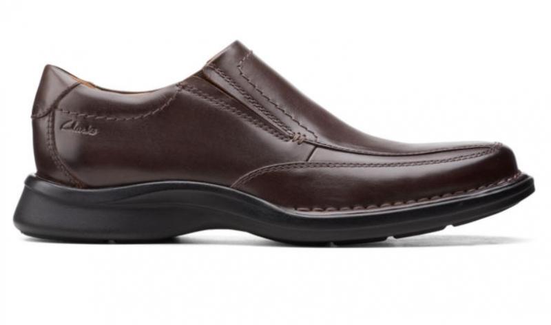 ihocon: Clarks Kempton FreeDark Brown Leather 男鞋